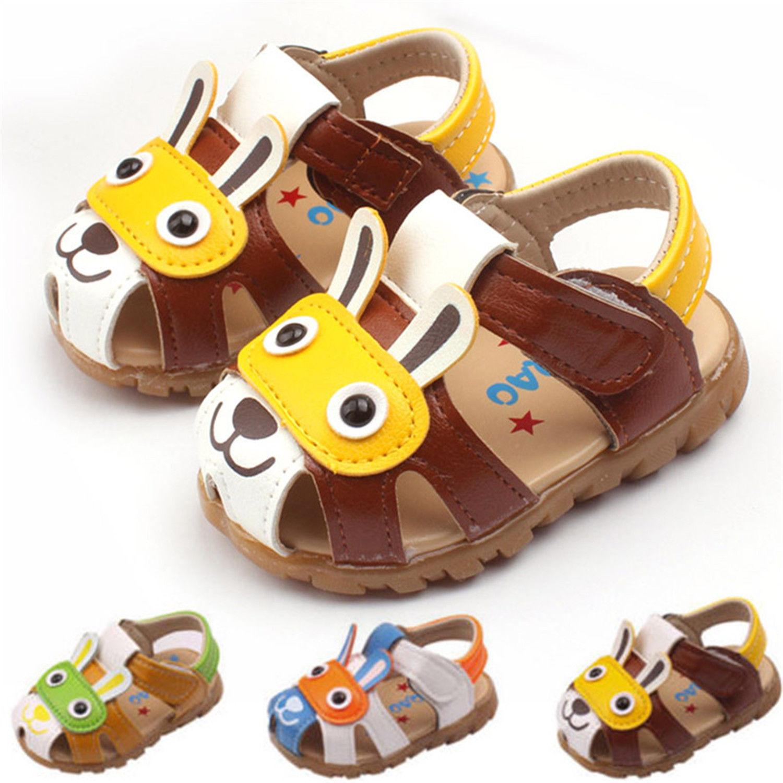 Toddler Kids Baby Boys Girls Summer Sandals Flashing Lights Anti-slip Crib Shoes