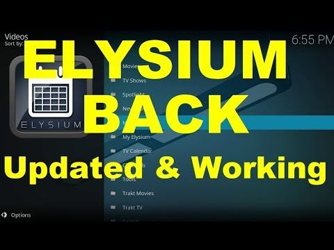 Great Addons Elysium Back and Updated, Elysium Not Working