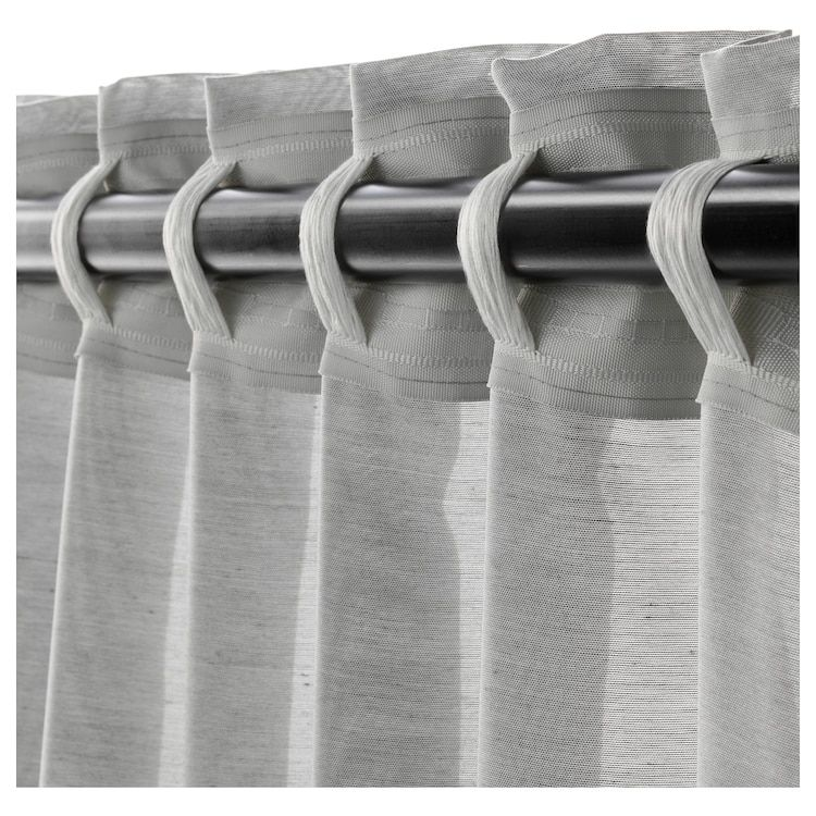 HILJA Curtains, 1 pair – gray – IKEA – curtains