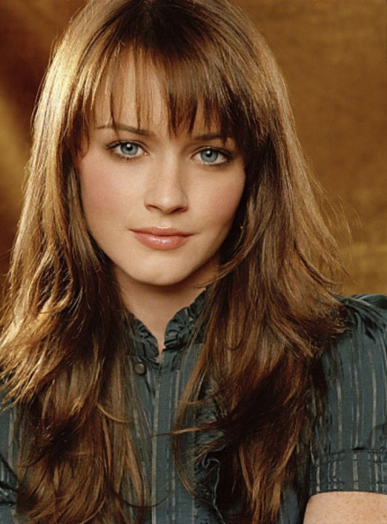 Layered Hairstyles With Bangs medium layered haircut with straight bangs Long Layered Hairstyles With Bangs Photo Gallery
