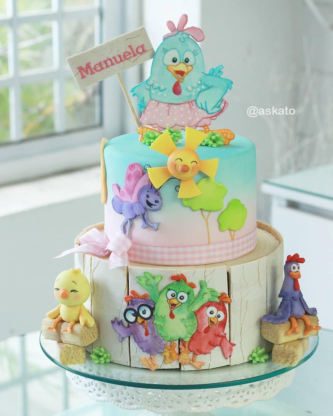 Andrea Kato Cake Designer On Instagram Galinha Pintadinha Na