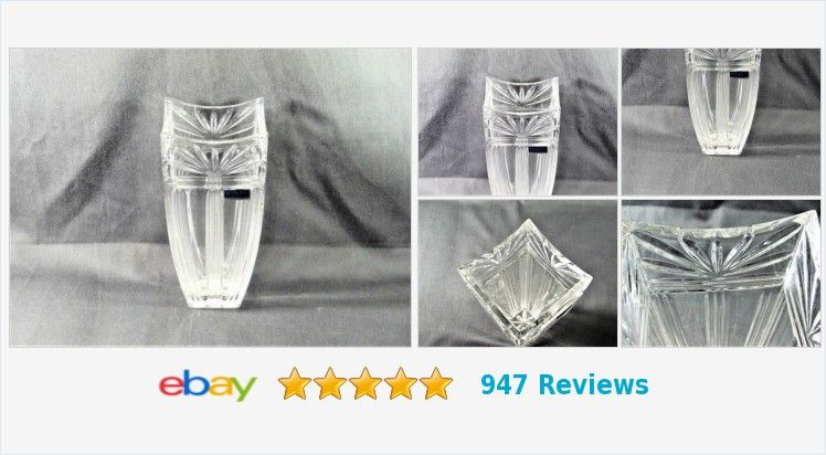 Marquis By Waterford Odyssey Vase 8 Inch Crystal Germany Ebay Decor Waterford Vase Crystals