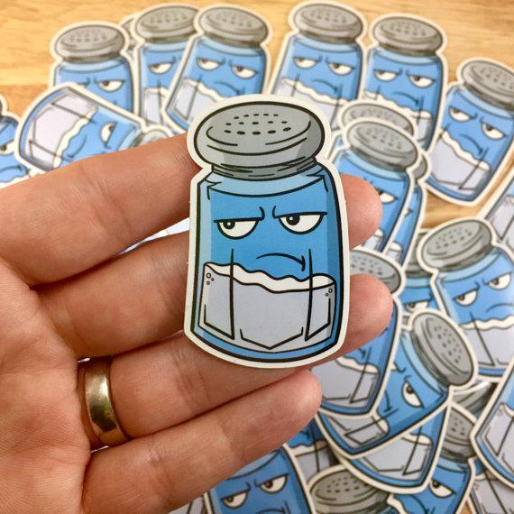 Salty the Salt Shaker Emoticon (Fortnite) | Sticker