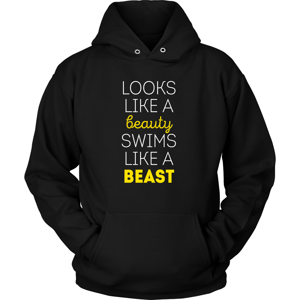T shirt black is my happy color - Swimming T Shirt Looks Like A Beauty Swims Like A Beast Swimming Water Polo And Competitive Swimming