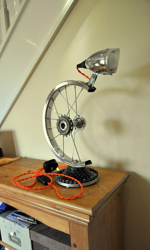 Bicycle Wheel Desk Lamp Bike Wheel Light Retro Table Lamp Retro Table Lamps Lamp Light Lamp