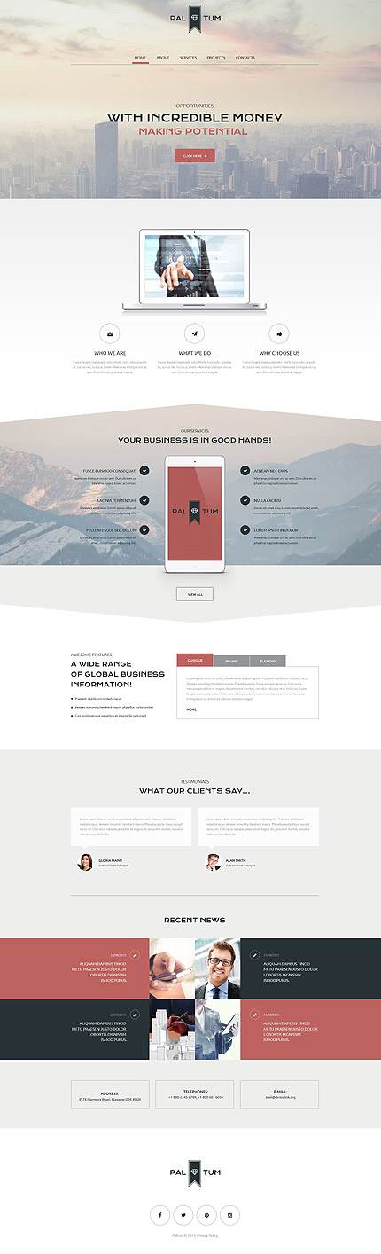 Template 55389 - Pal Tum  Responsive Website Template