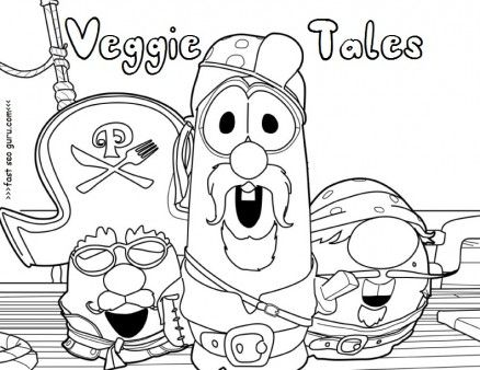Printable Veggie Tales Pirates Coloring Pages For Preschool Free