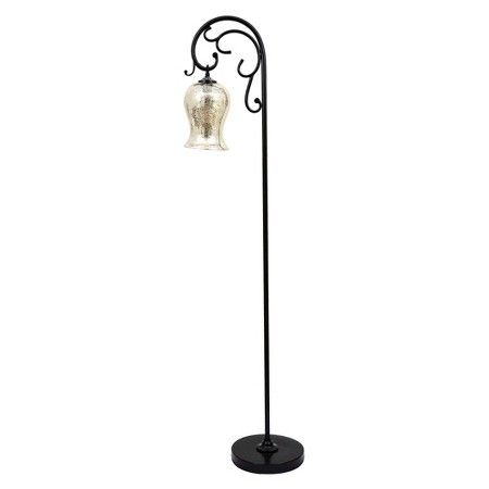 j. hunt textured bronze floor lamp with mercury glass shade