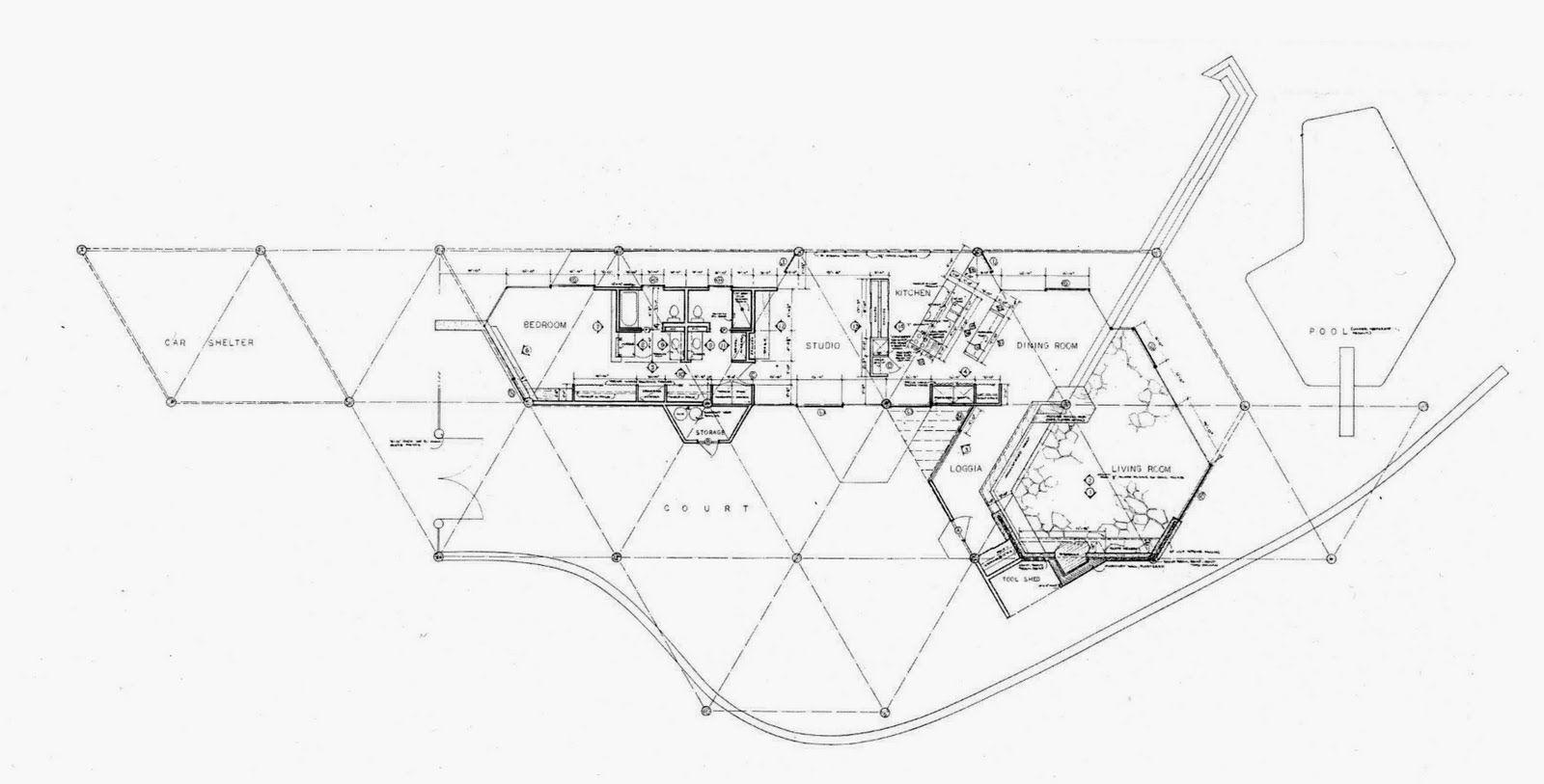John Lautner, Harpel House plan 1956 | Architecture Admired ... on