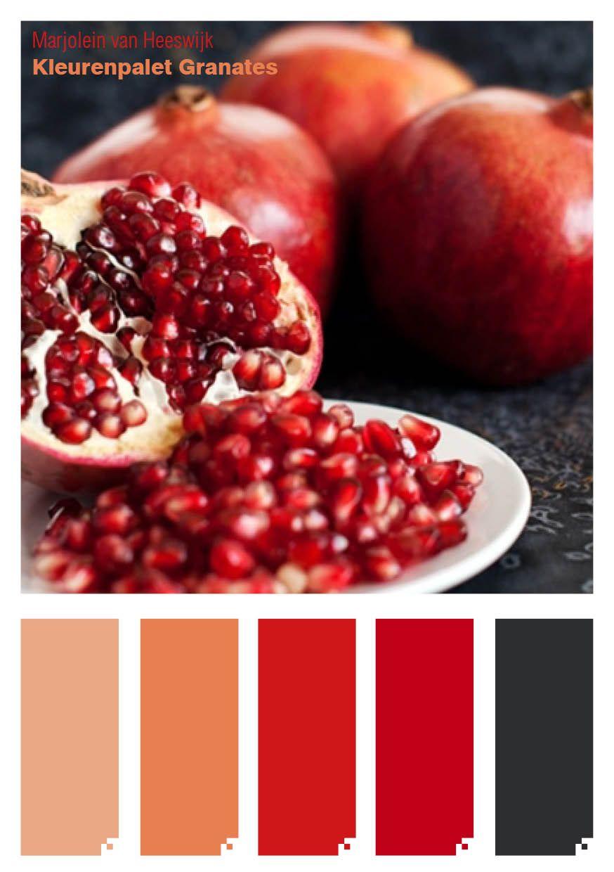 "MVHMSK - Kleurinspiratie: Kleurenpalet ""Granates"""