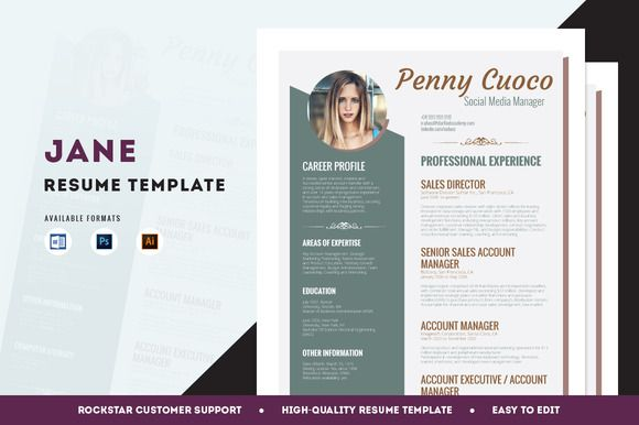 Resume Template + FREE Cover Letter by @Graphicsauthor Resume CV - free cover letters for resume