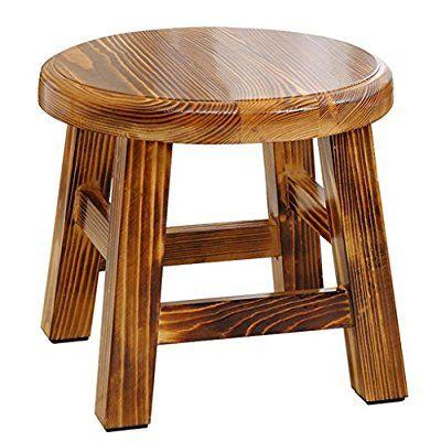 LYTSM® Duschhocker, Mode Kreative Holz material Bad