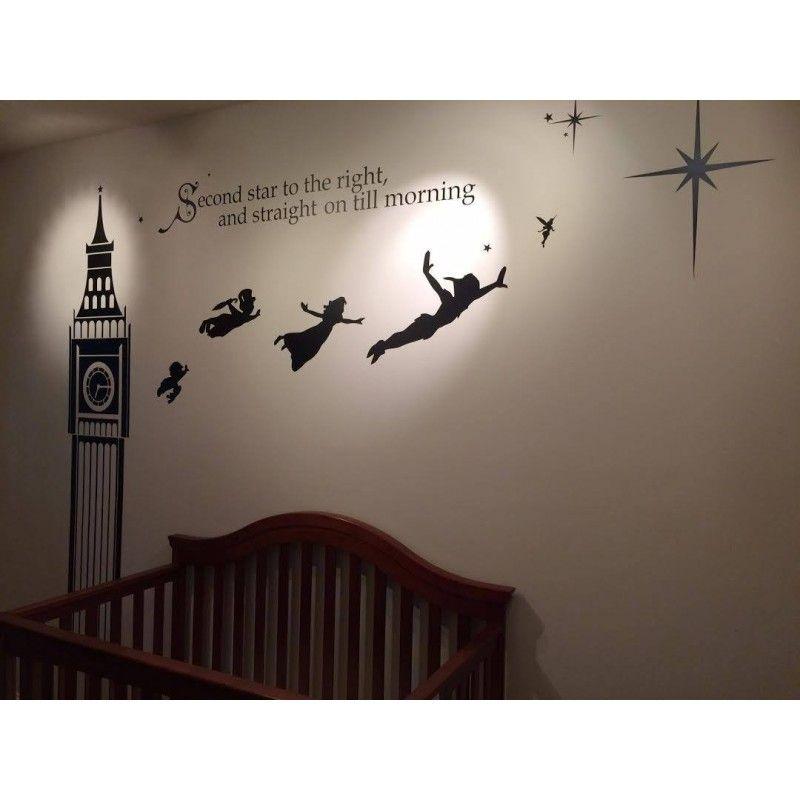 Incroyable Disney Peter Pan Big Ben Wall Decal Sticker