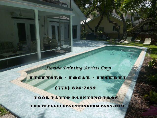 Painting Port Saint Lucie Beautiful: Pool Patio Painting Services   Paint  Your Concrete.