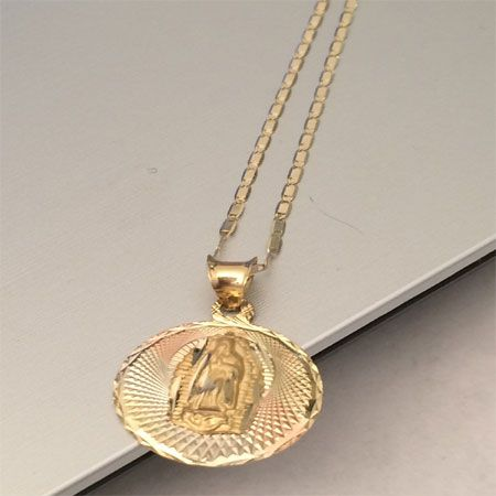 14k yellow rose trio gold religious virgin mary charm pendant gucci 14k yellow rose trio gold religious virgin mary charm pendant gucci chain style by rgd mozeypictures Image collections