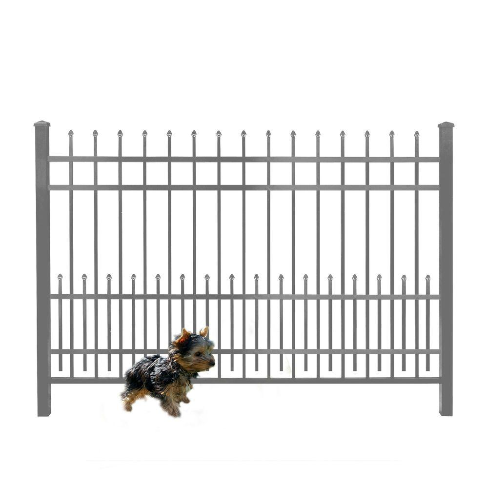 Mainstreet Aluminum Fence 3 4 In X 1 5 Ft X 6 Ft Bronze