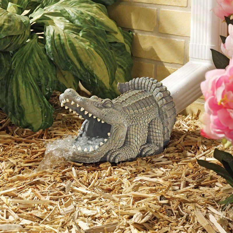 Alligator Bathroom Decor | Design Toscano Alligator Decorative Garden  Downspout Collection .