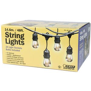 Feit 48' Outdoor String Lights with 24 Light Sockets