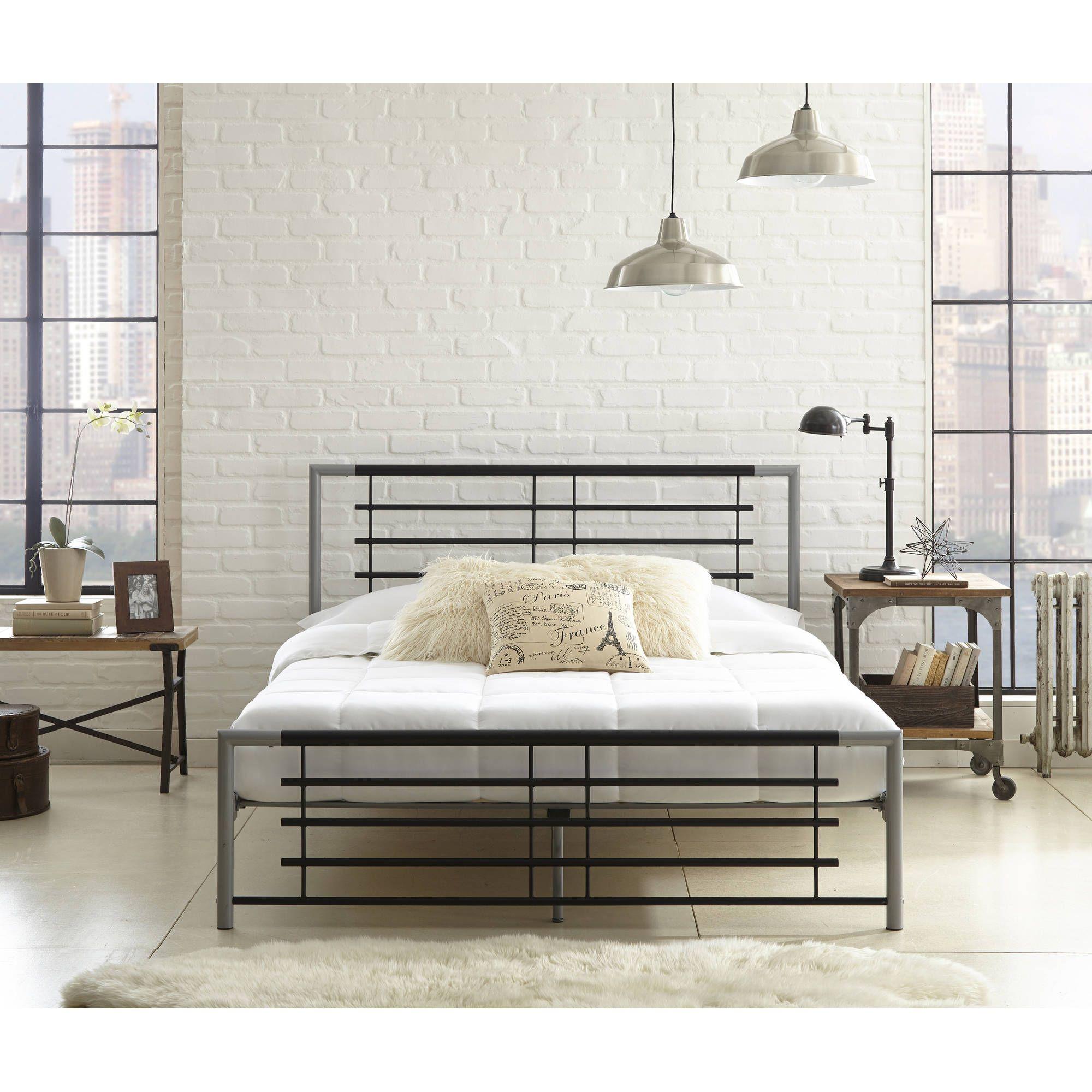 Home Metal platform bed, Platform bed, Queen platform bed