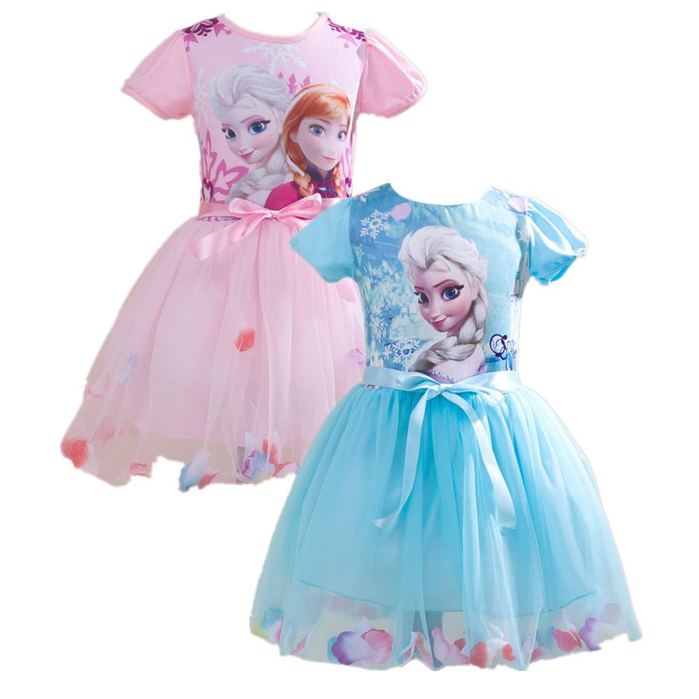 Pageant Girls Kids Frozen Princess Anna Elsa Party Dress Holiday ...