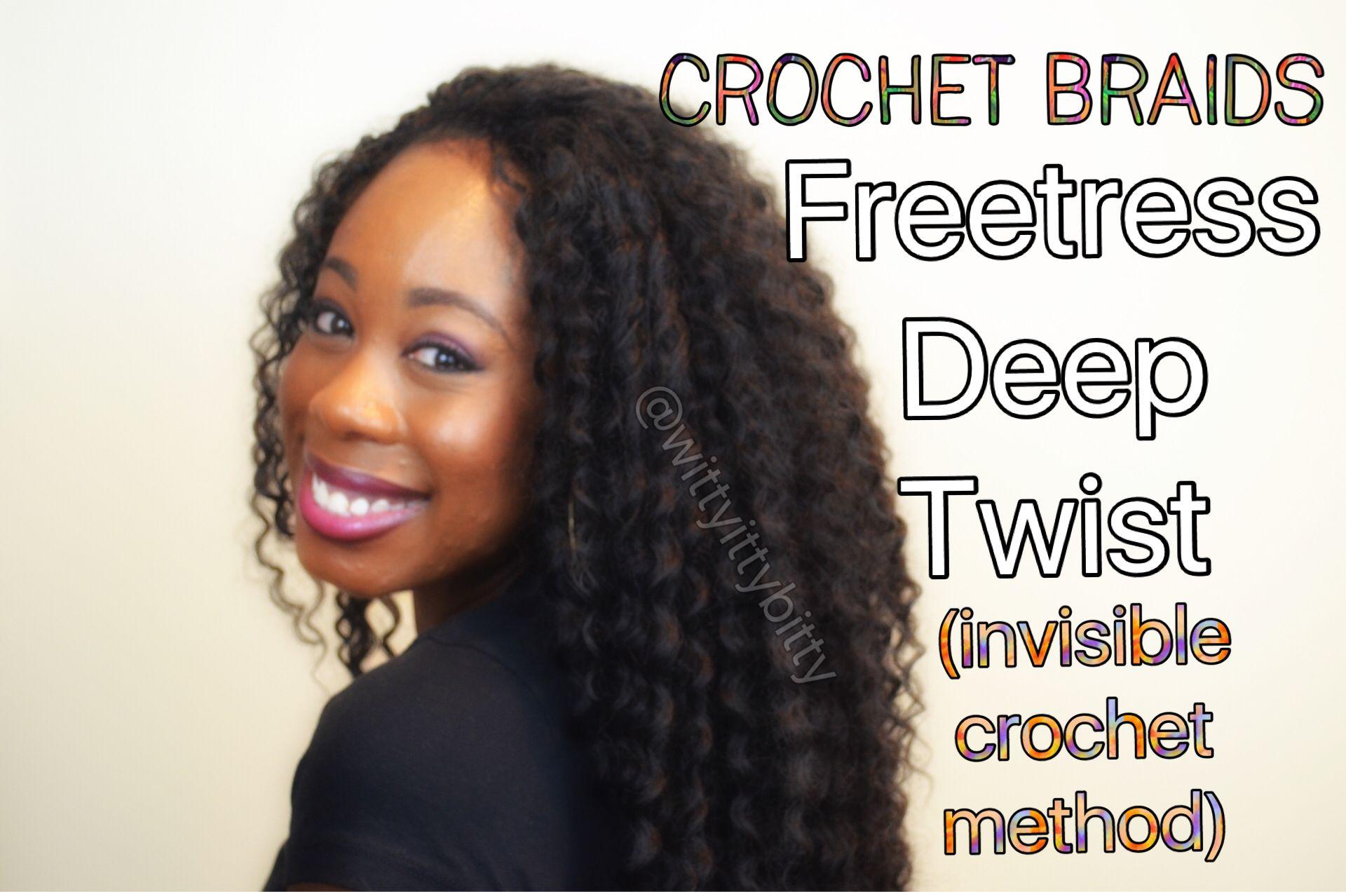 freetress deep twist crochet braids invisible part crochet braids