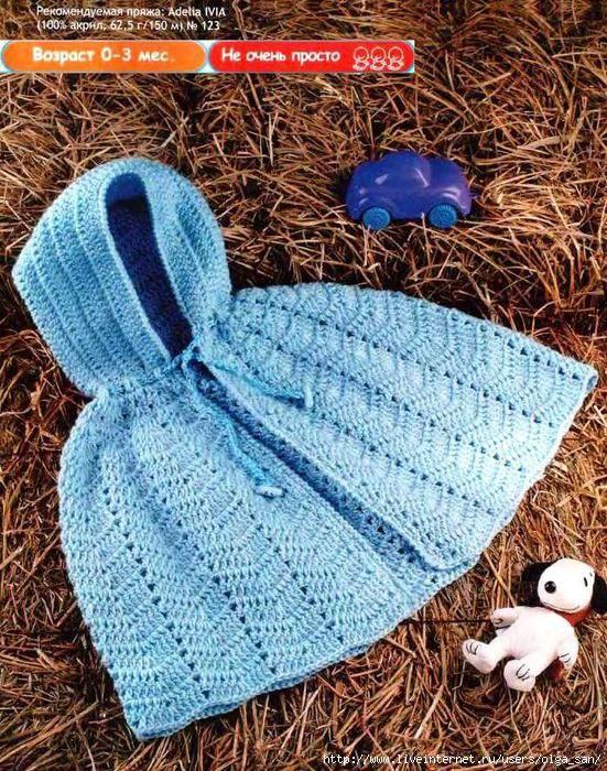 CAPINHA DE CROCHÊ COM CAPUZ   Especial   Pinterest   Babykleidung ...