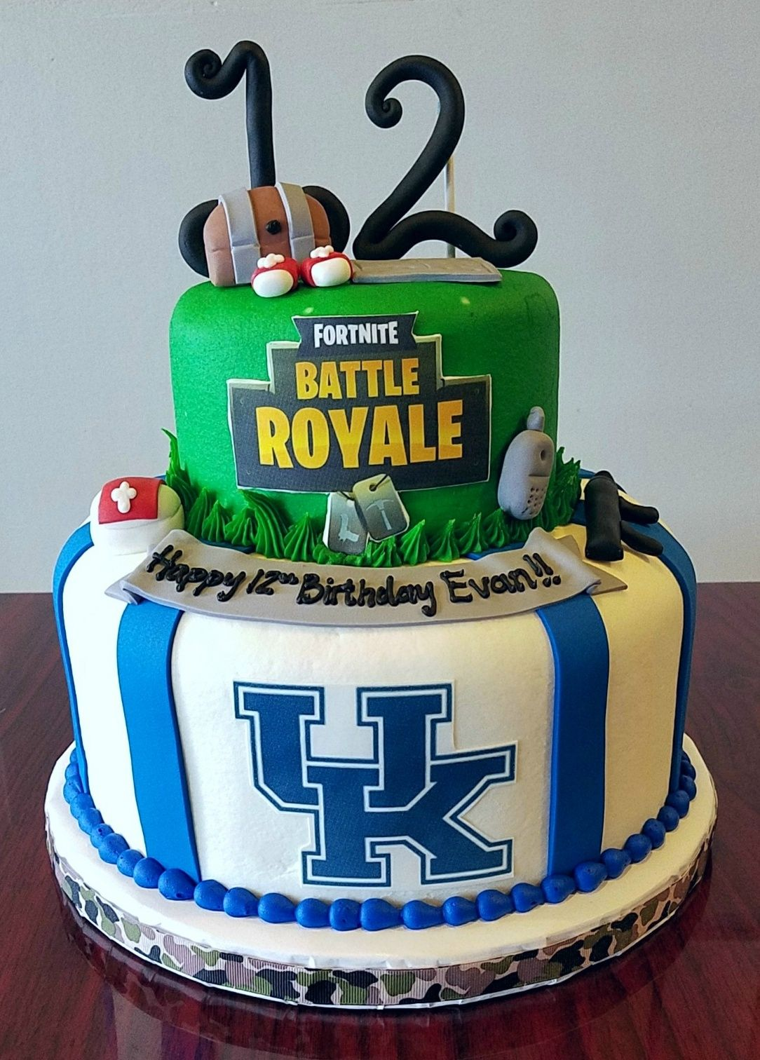 Fortnite and UK Birthday Cake Adrienne & Co. Bakery
