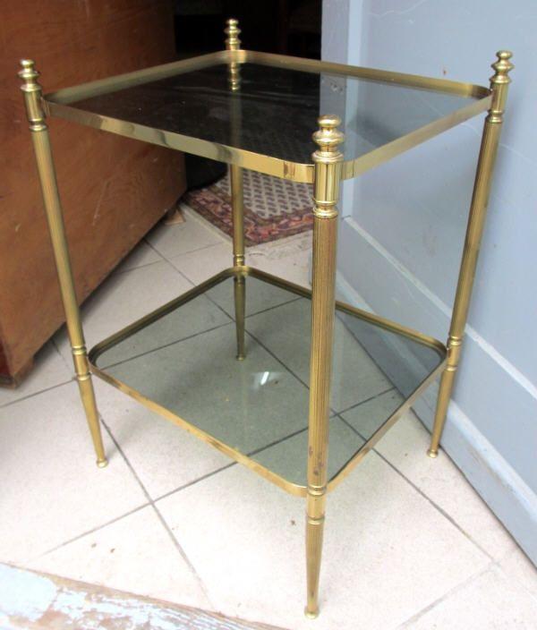 art deco tisch messing glas vintage beistelltisch nachttisch regal ebay