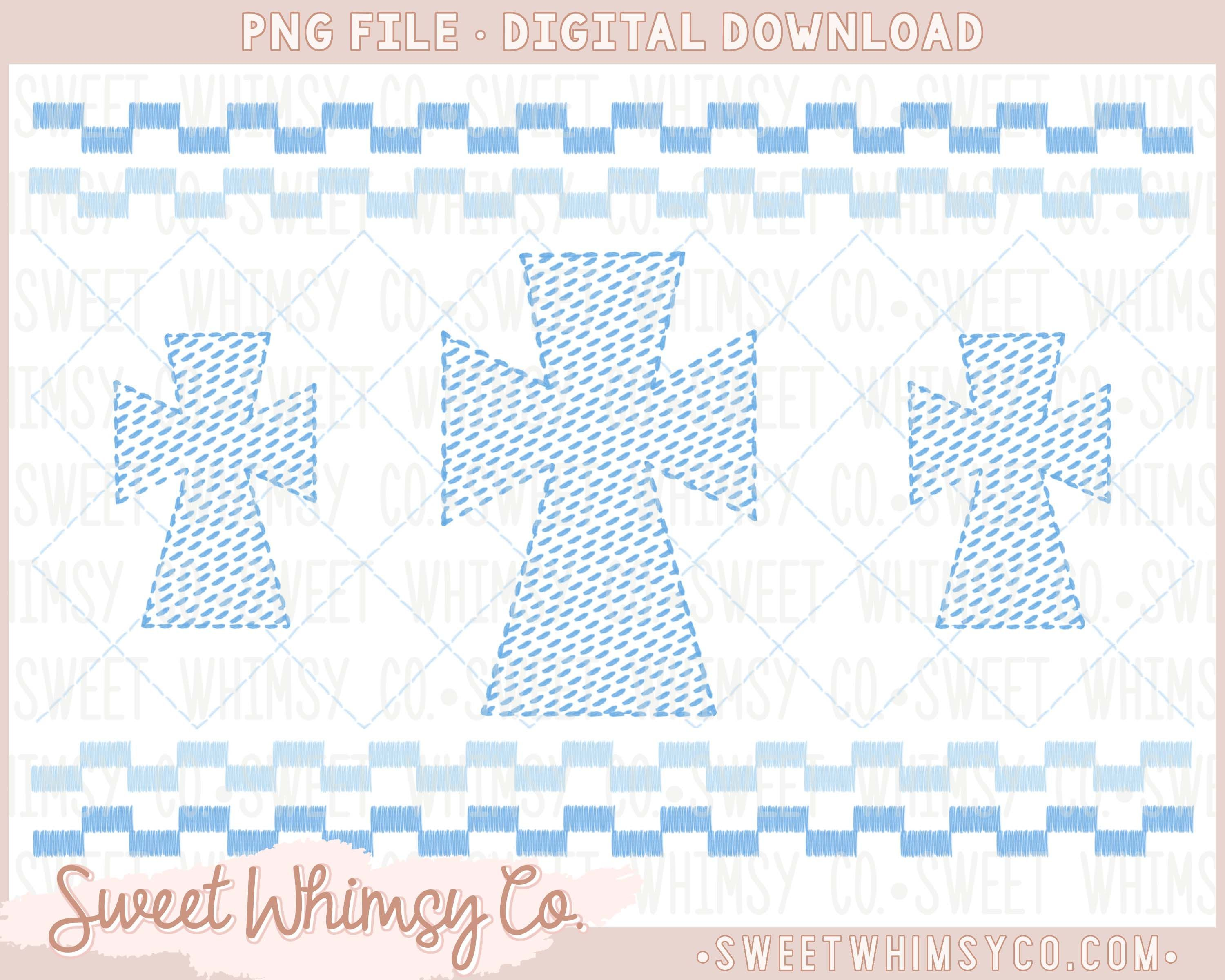 Blue Cross Faux Smock Stitched Png Design Blue Cross Design This Listing Is For A Digi In 2020 Blue Cross Design Stitch