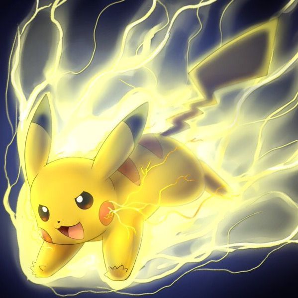 Pokemon Pikachu Thunderbolt Attack Cool Cute And Cuddly Pikachu