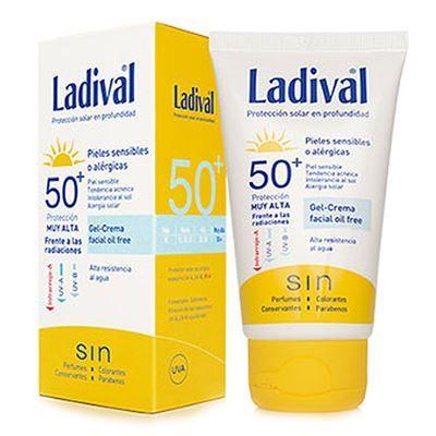 549131e8849 El protector solar Ladival SPF 50+ gel crema facial oil free para pieles  sensibles o