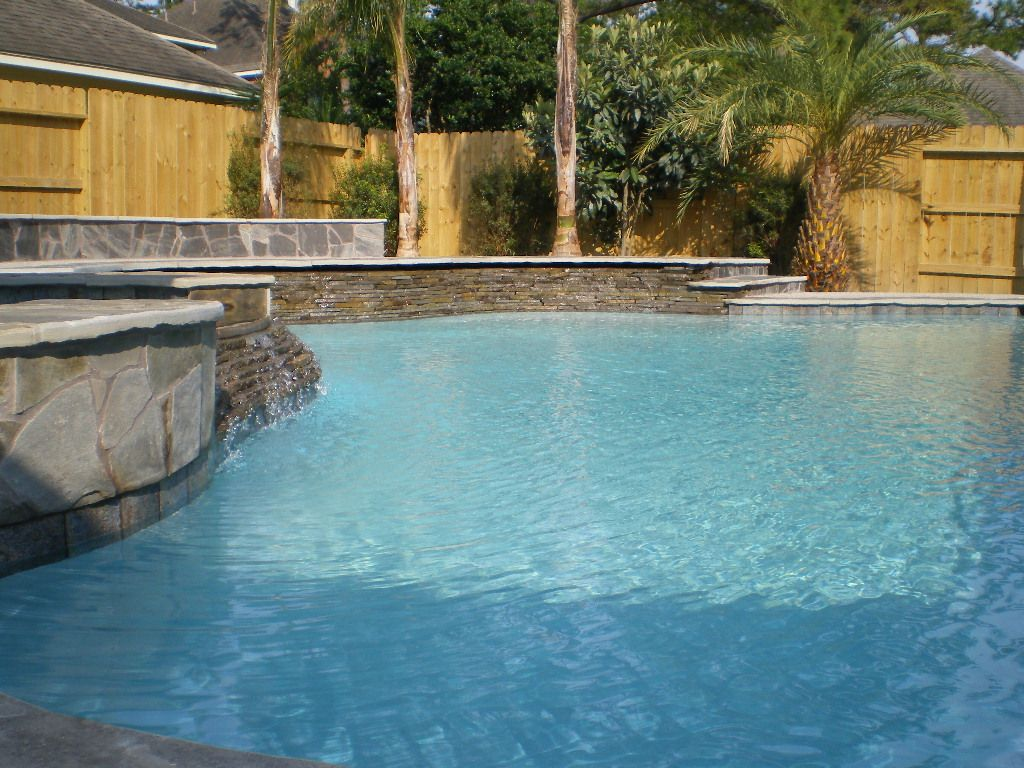 Inground Spas With Stack Stone : Stack stone pics of raised wall with pools spas