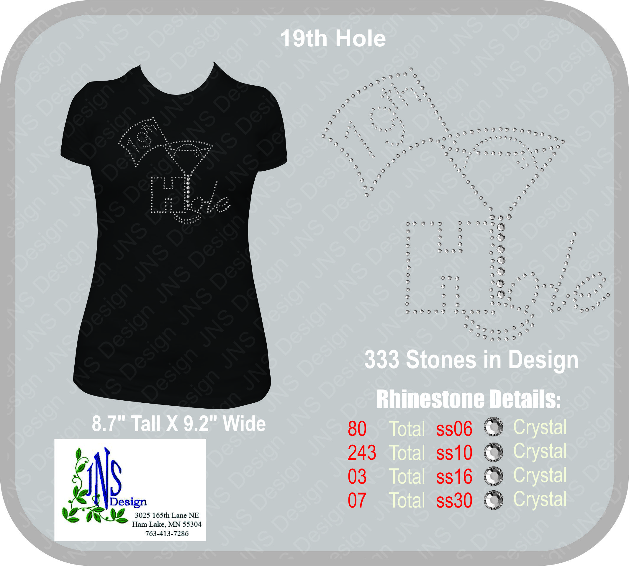 19th Hole Rhinestone T-Shirt