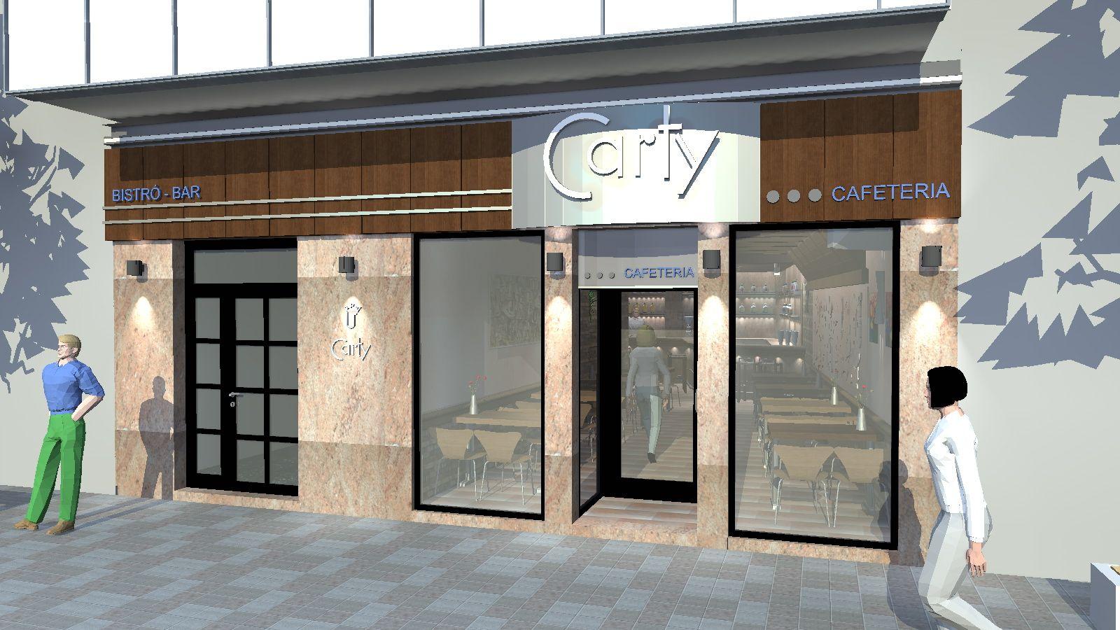 Cafeter a carty proyectos reformas locales comerciales for Locales comerciales modernos exterior