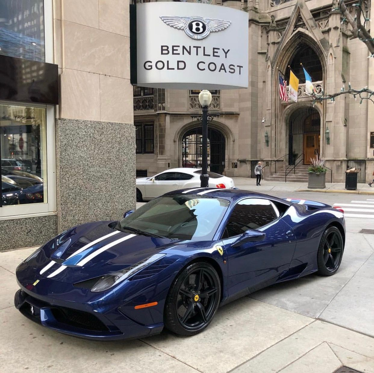 Ferrari 458 Speciale Painted In Blu Nart W Bianco Central Stripes Photo Taken By Goldcoastautogallery On Amazing Cars Wedding Ring Photography Ferrari 458