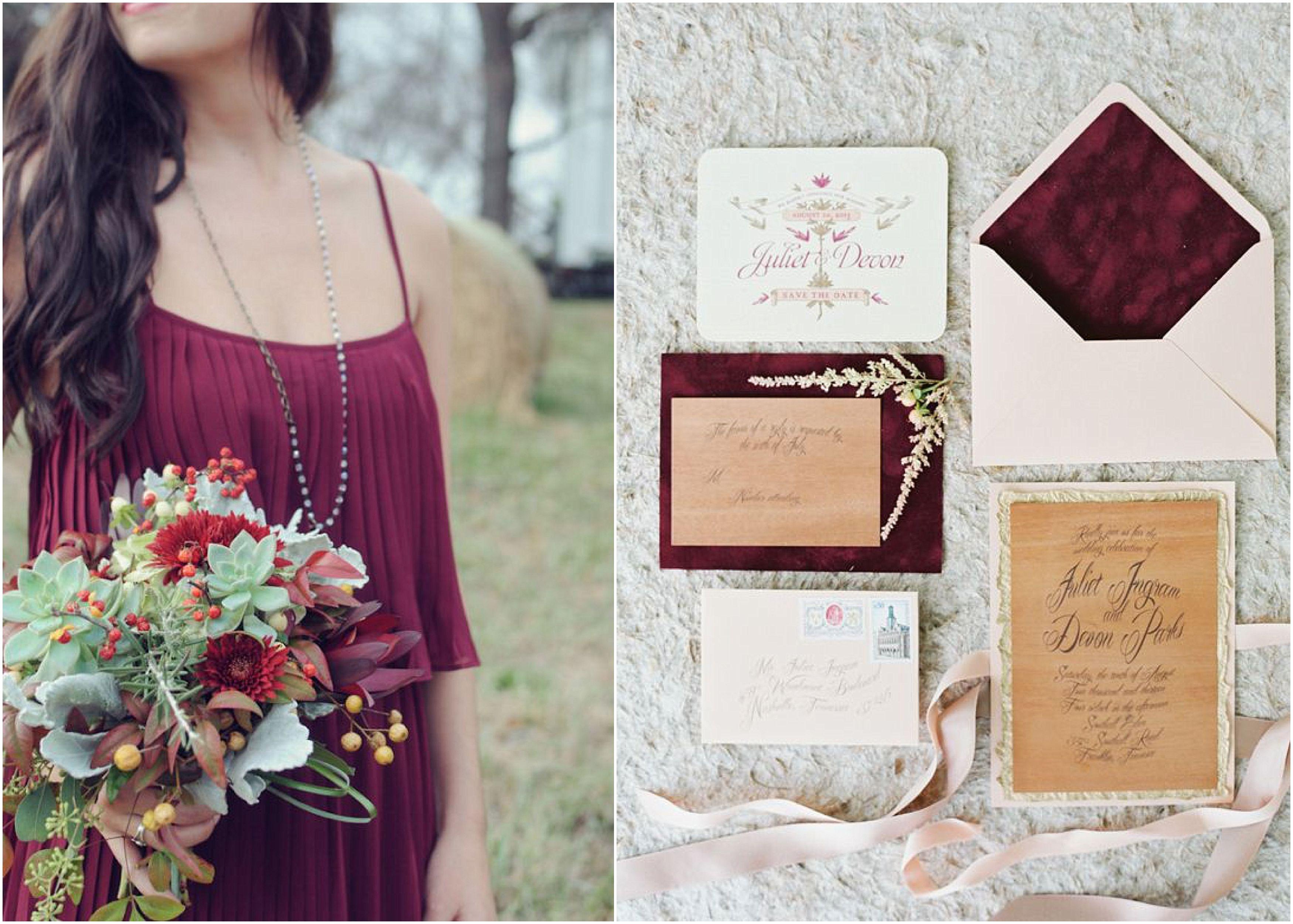 plum and burgundy wedding The Bride Link Fall wedding