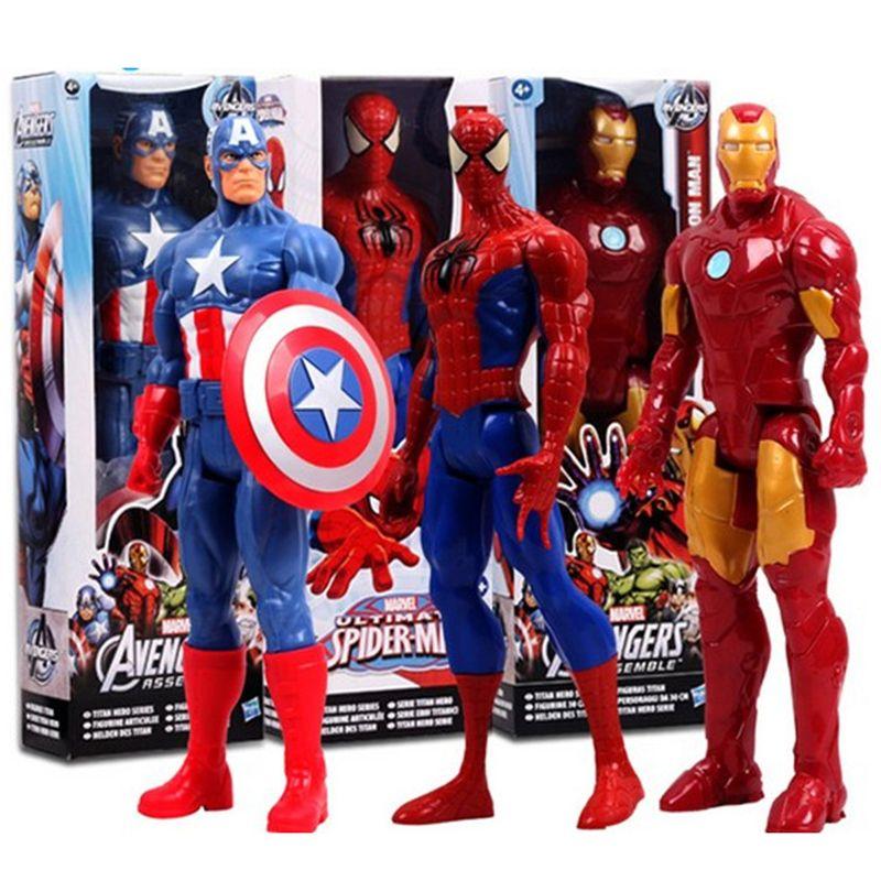 The Avengers Marvel Action Figur Figuren Spielzeug Spiderman Captain America DE