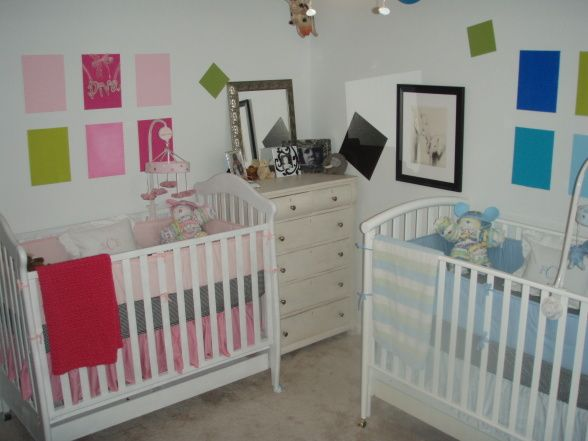 50 Ideias de quartos para bebs gmeos Twin nurseries Twins and