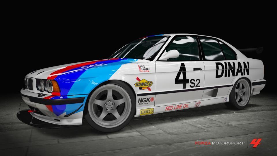 Dinan E34 Race Car Replica Livery With Images Bmw E34 Bmw Bmw M3