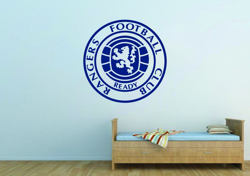 Glasgow Rangers Football Club Logo Wall Art Sticker Logo Wall Sticker Wall Art Boys Bedroom Decor
