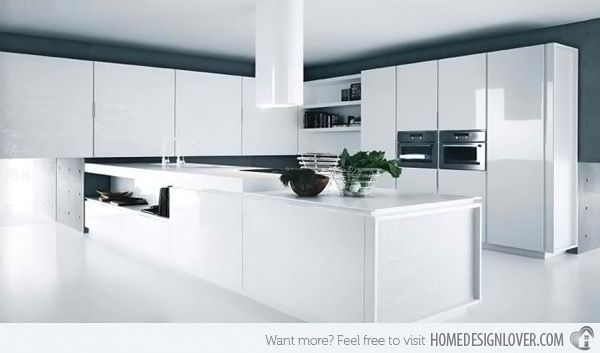 18 modern white kitchen design ideas - Modern Kitchen White Cabinets