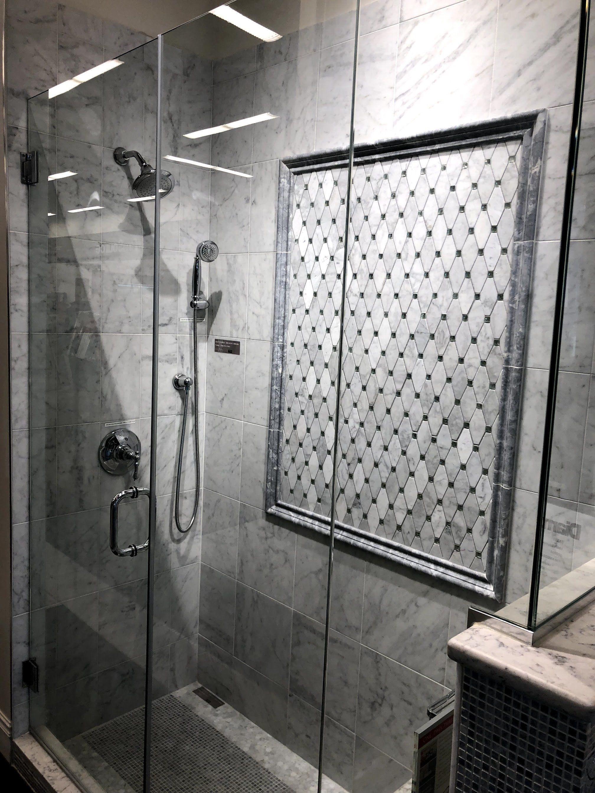 Shower Tile Design Bianco Carrara Marble Tile S And Mosaics Elegant Interior Design Id Bathroom Interior Design Bathroom Interior Bathroom Design