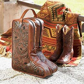 Boot Bag I Love To Wear Boots Leather Tooling