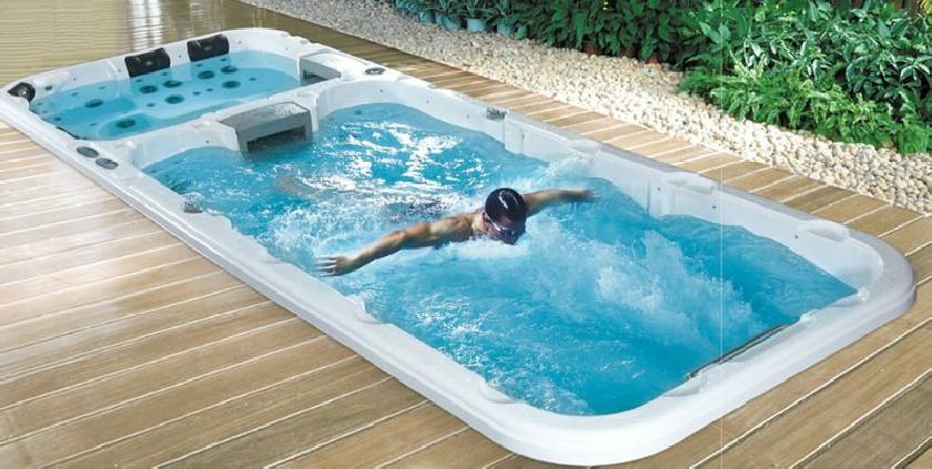 image gallery swim spa. Black Bedroom Furniture Sets. Home Design Ideas