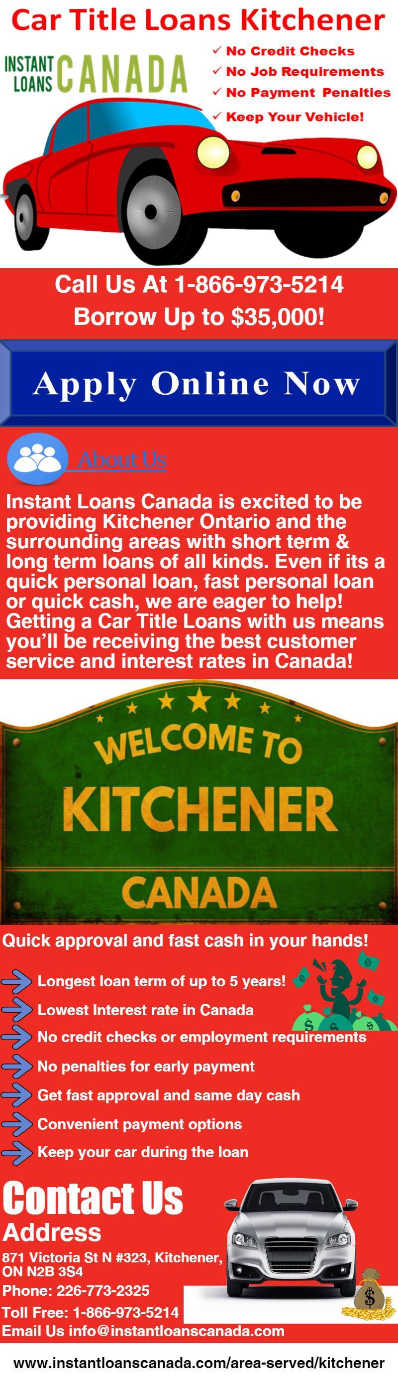 www.instantloanscanada.com/area-served/kitchener | Car title loans ...