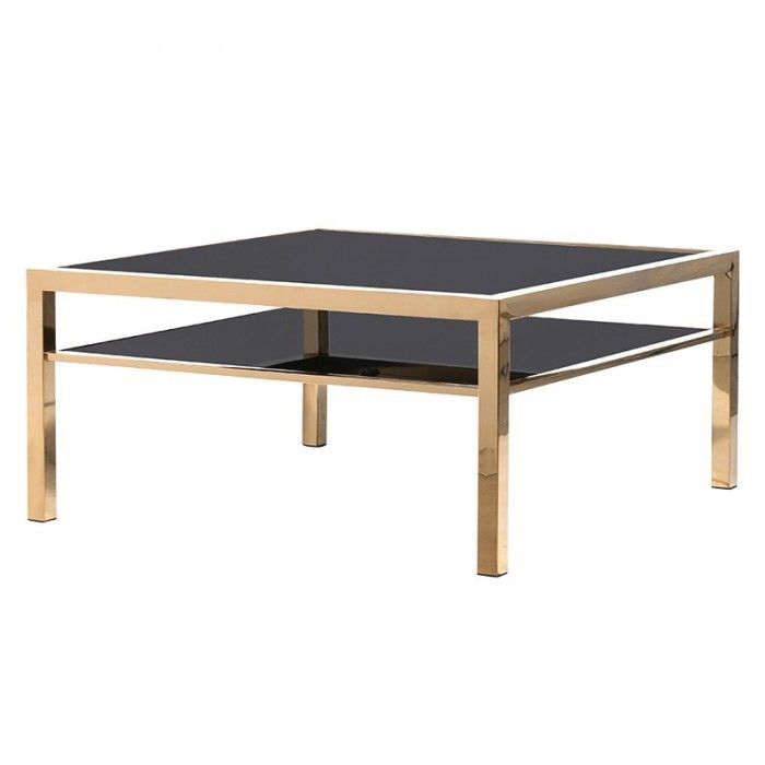Black Orchid Uk Luxury Coffee Table Gold