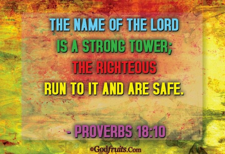 In his strong name is our refuge our strong tower our