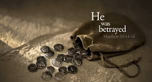 Image result for judas betrays jesus for 30 pieces of silver
