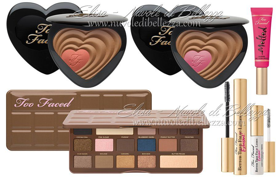 Elisa - Nuvole di Bellezza: Too Faced - Collezione Make Up Primavera 2015, Semi Sweet Chocolate Bar, , Better Than Sex False Lash Extreme Instant Extension Kit