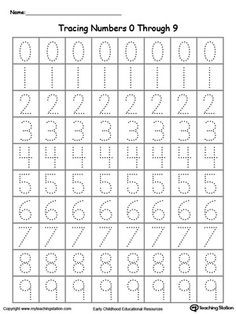 Tracing Numbers 0 Through 9 | Number tracing and Numbers